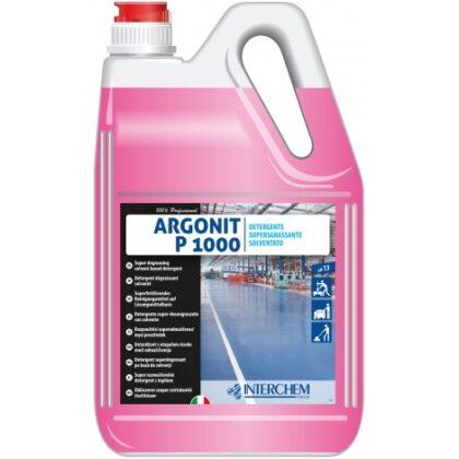 Argonit P 1000 – nepěnivý, odmašťující detergent pro očistu prům. podlah, 5kg